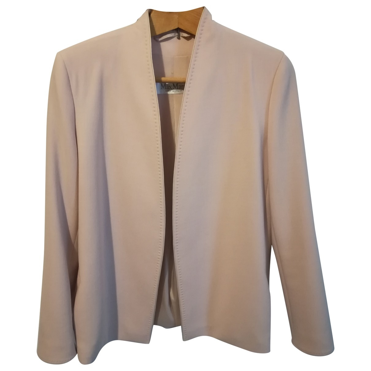 Max Mara \N Pink Wool jacket for Women 40 IT