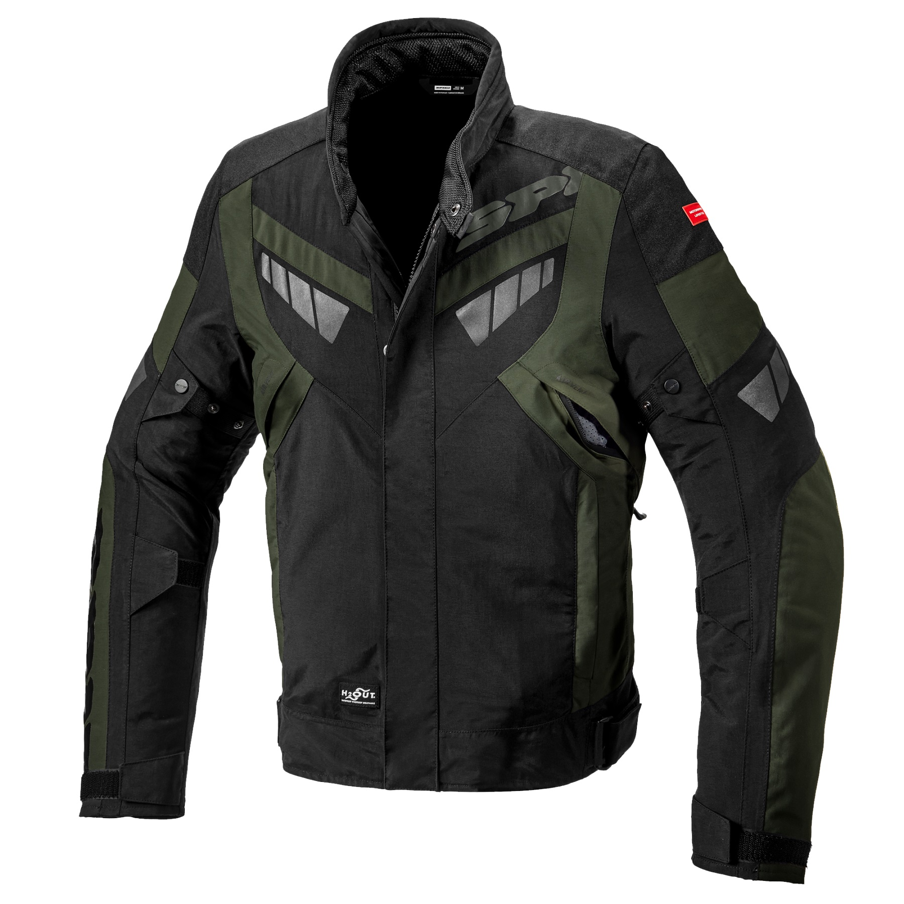 Spidi Freerider Dark Green Black Motorcycle Jacket XL