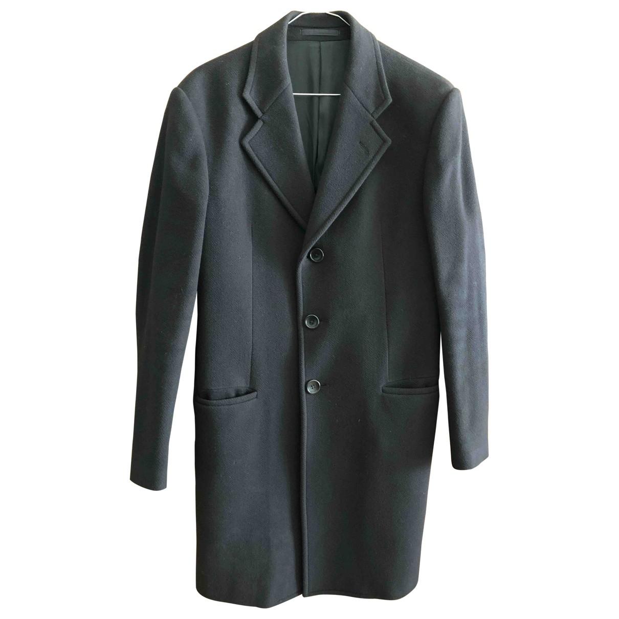 Armani Collezioni \N Black Wool coat  for Men 46 IT