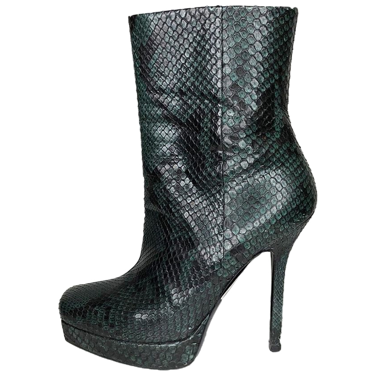 Gucci \N Green Python Ankle boots for Women 37 EU