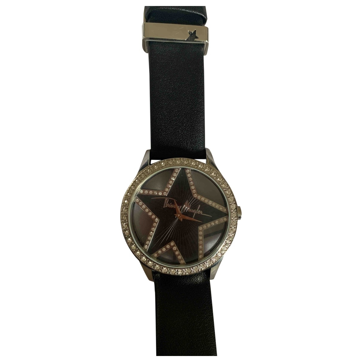Thierry Mugler \N Black Steel watch for Women \N
