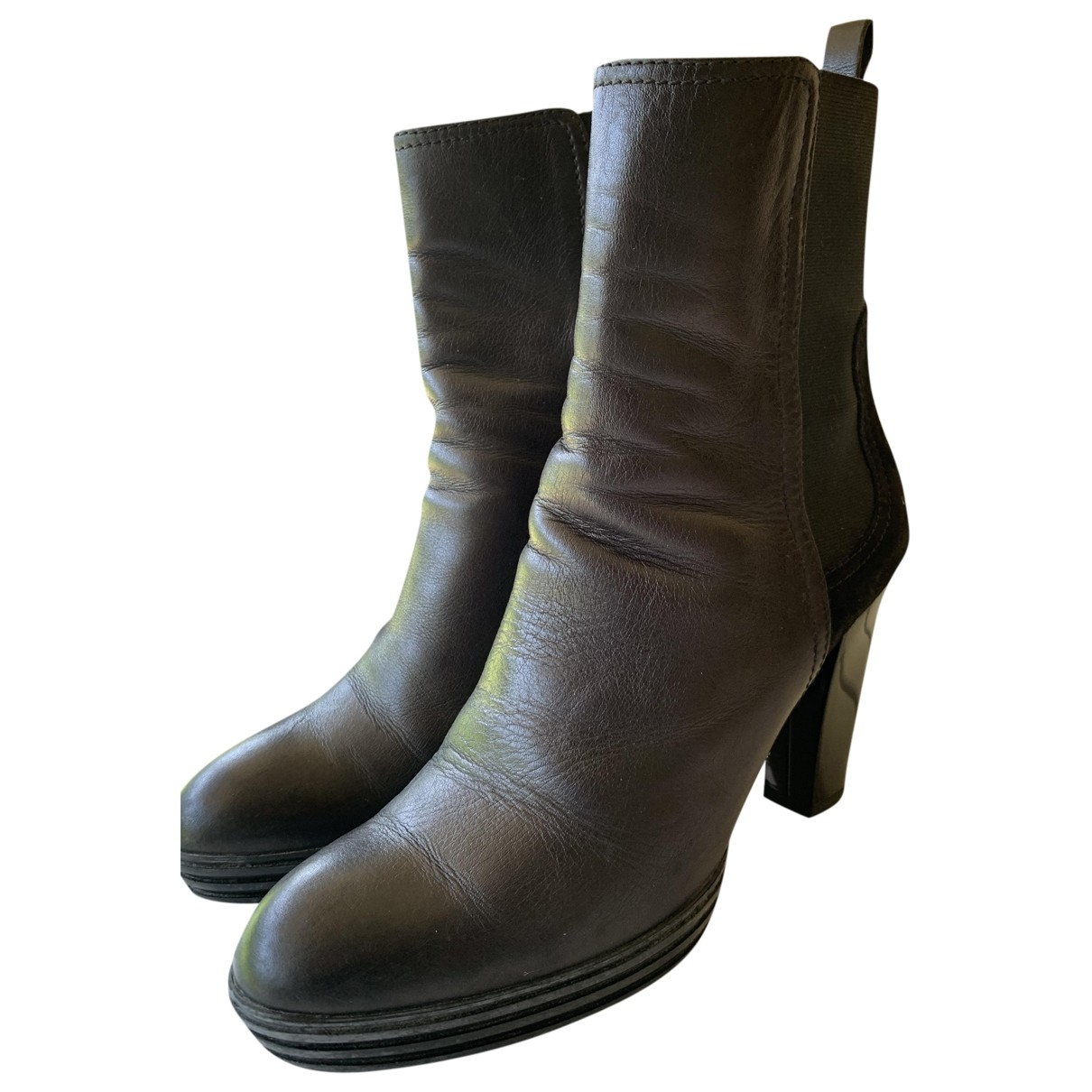 Hogan \N Black Leather Boots for Women 38 IT