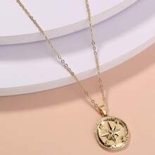 Star Engraved Charm Necklace
