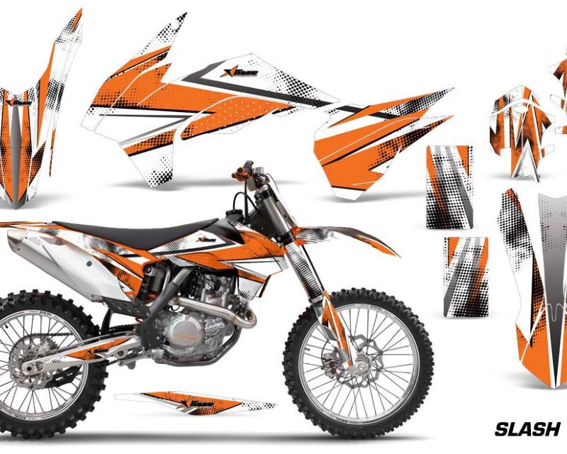 AMR Racing Graphics MX-KTM-C9-13-16-SL O Kit Decal Wrap For KTM SX/SXF/XCF/EXC/TC-F/XC/XCF-W 2013-2016áSLASH ORANGE