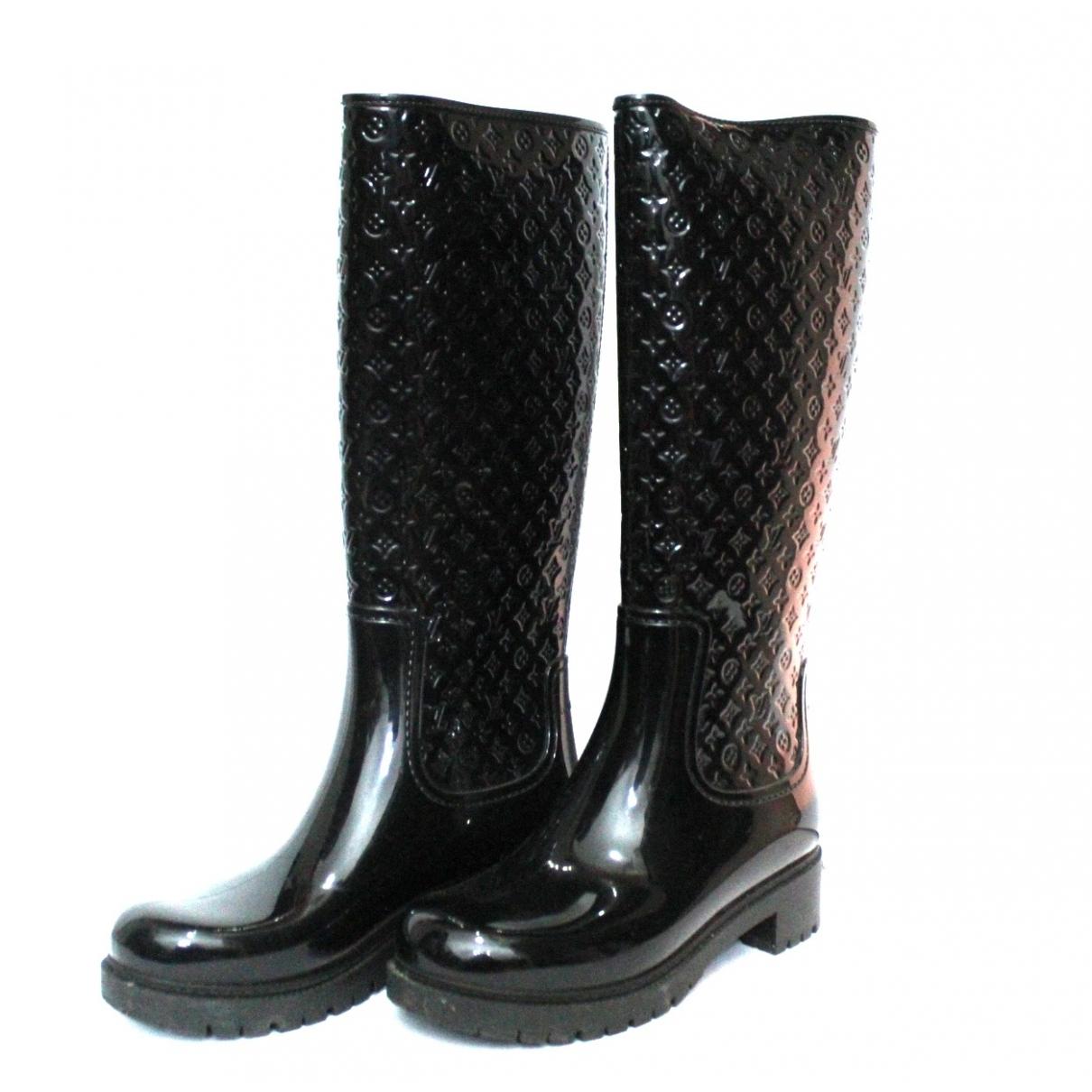 Louis Vuitton Drops Black Rubber Boots for Women 36 EU