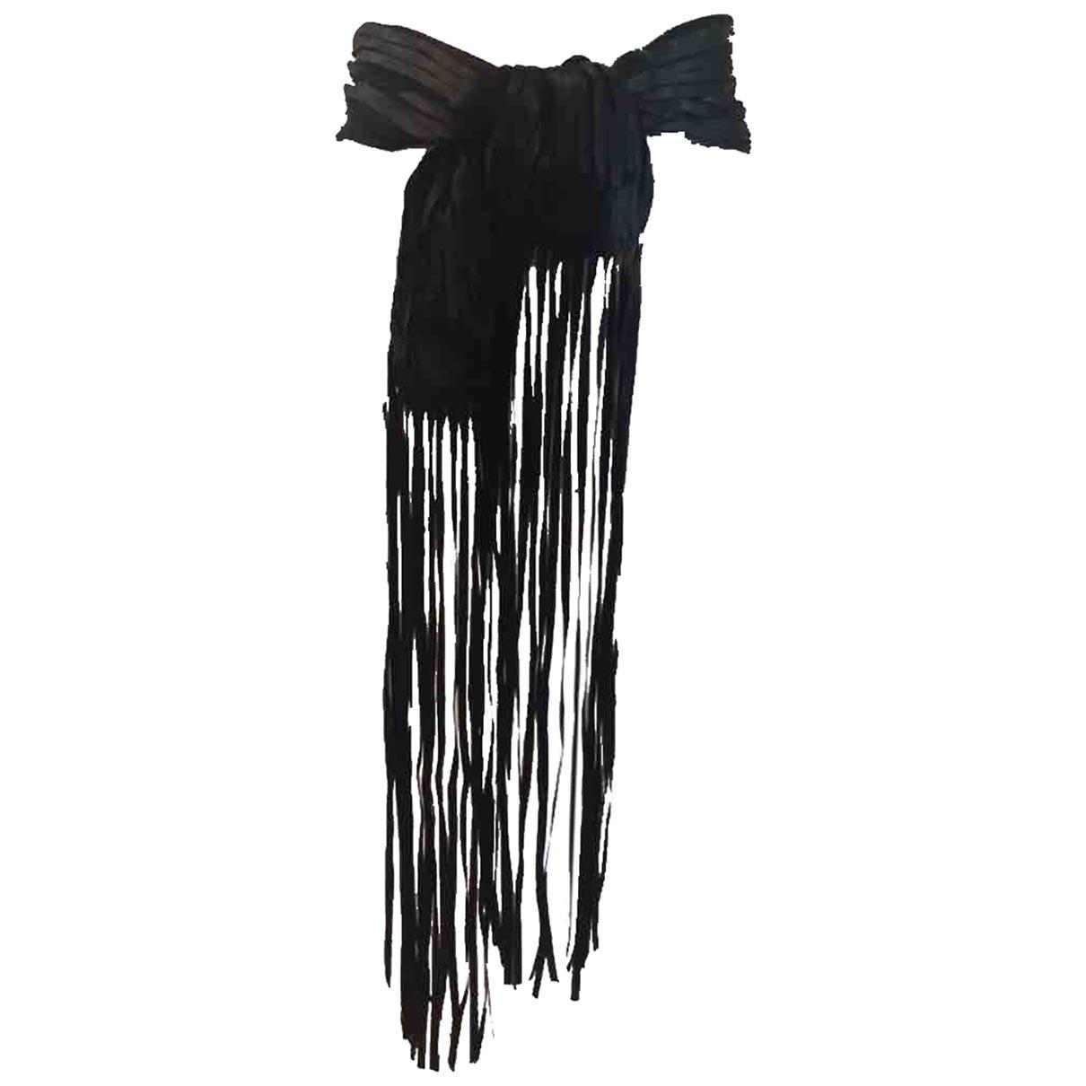 Yves Saint Laurent \N Black Silk belt for Women 95 cm