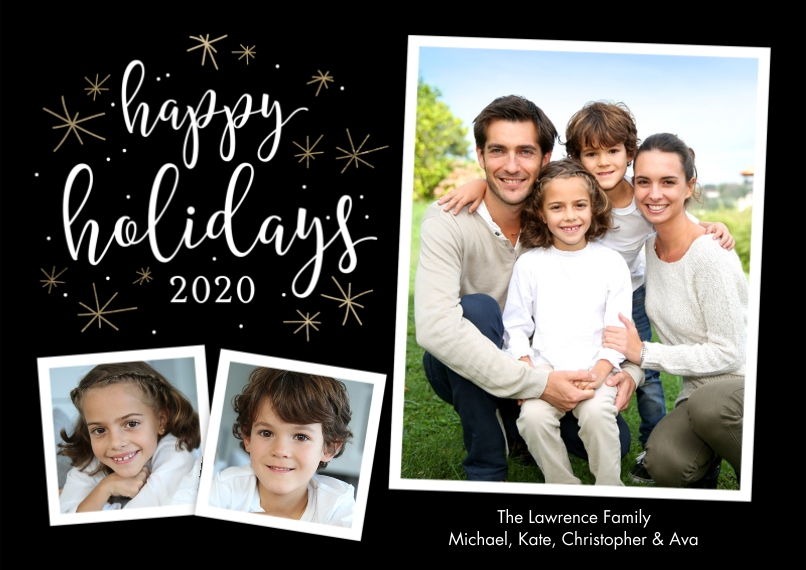 Holiday Photo Cards Flat Matte Photo Paper Cards with Envelopes, 5x7, Card & Stationery -Holiday 2020 Stars by Tumbalina