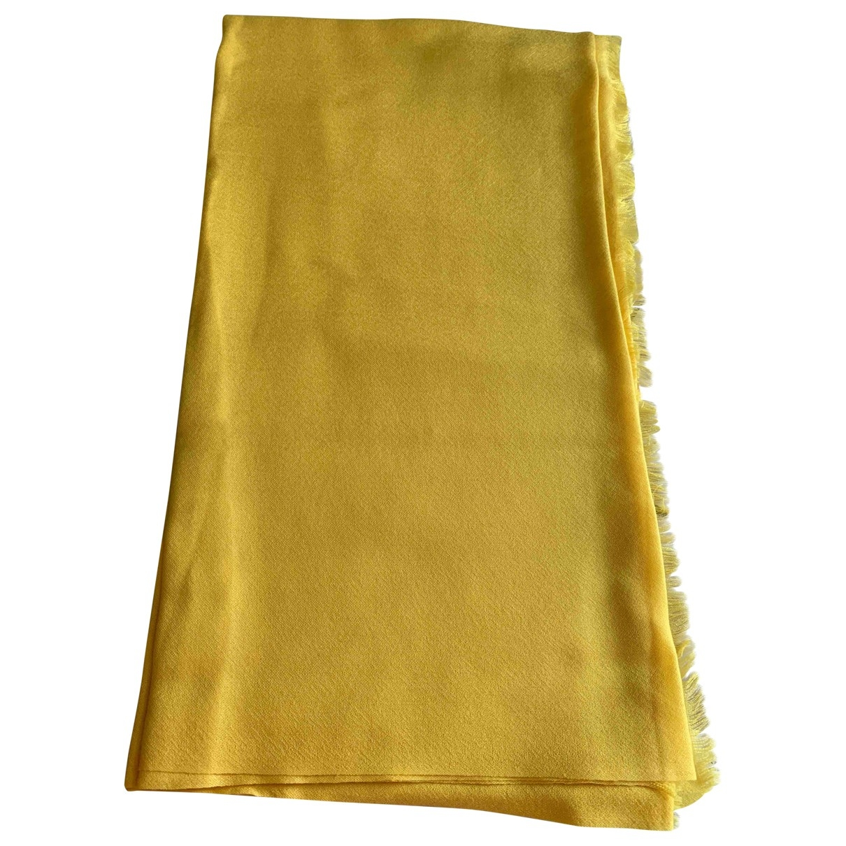 Eric Bompard \N Yellow Cashmere scarf for Women \N