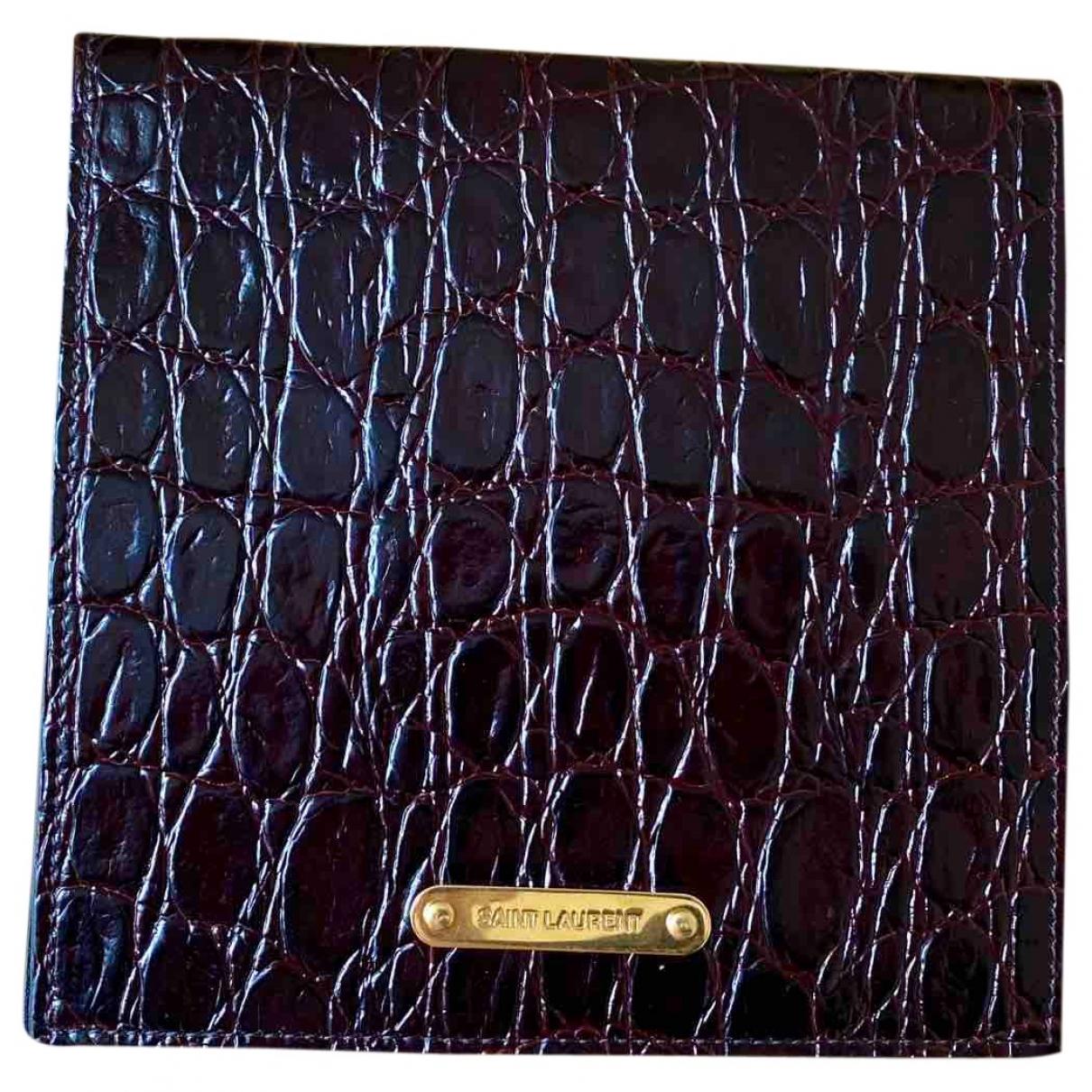 Saint Laurent \N Burgundy Crocodile Purses, wallet & cases for Women \N