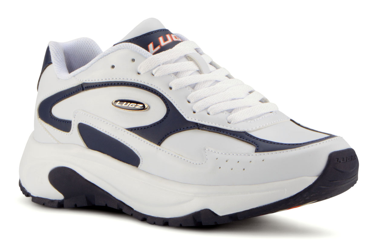 Men's Typhoon Oxford Sneaker (Choose Your Color: WHITE/NAVY/ORANGE, Choose Your Size: 8.5)