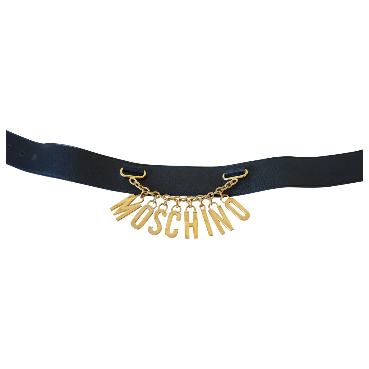 Moschino \N Navy Leather belt for Women M International