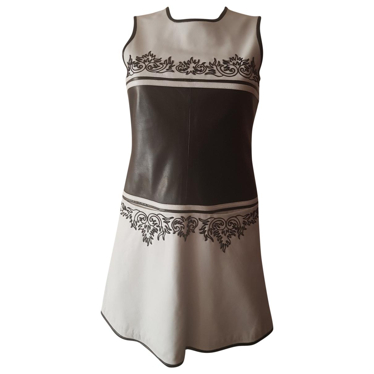 Jitrois \N White Leather dress for Women 8 UK
