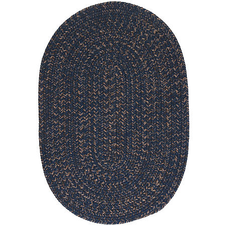 Colonial Mills Grafton Tweed Reversible Braided Oval Rug, One Size , Blue