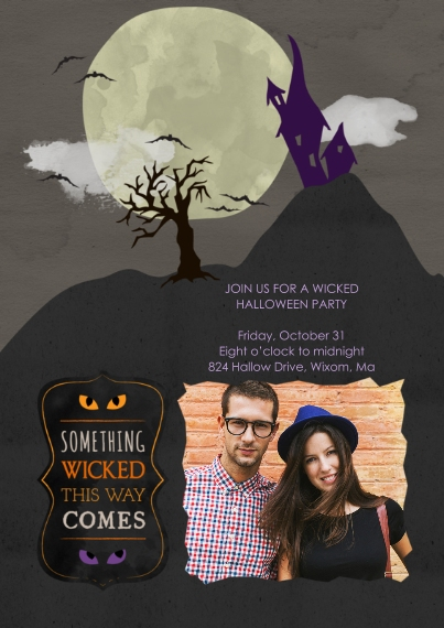 Halloween Photo Cards 5x7 Cards, Premium Cardstock 120lb, Card & Stationery -Wicked Halloween