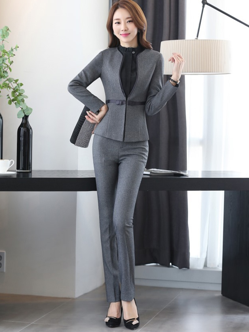 Ericdress Solid Color Two-Piece Formal Suit