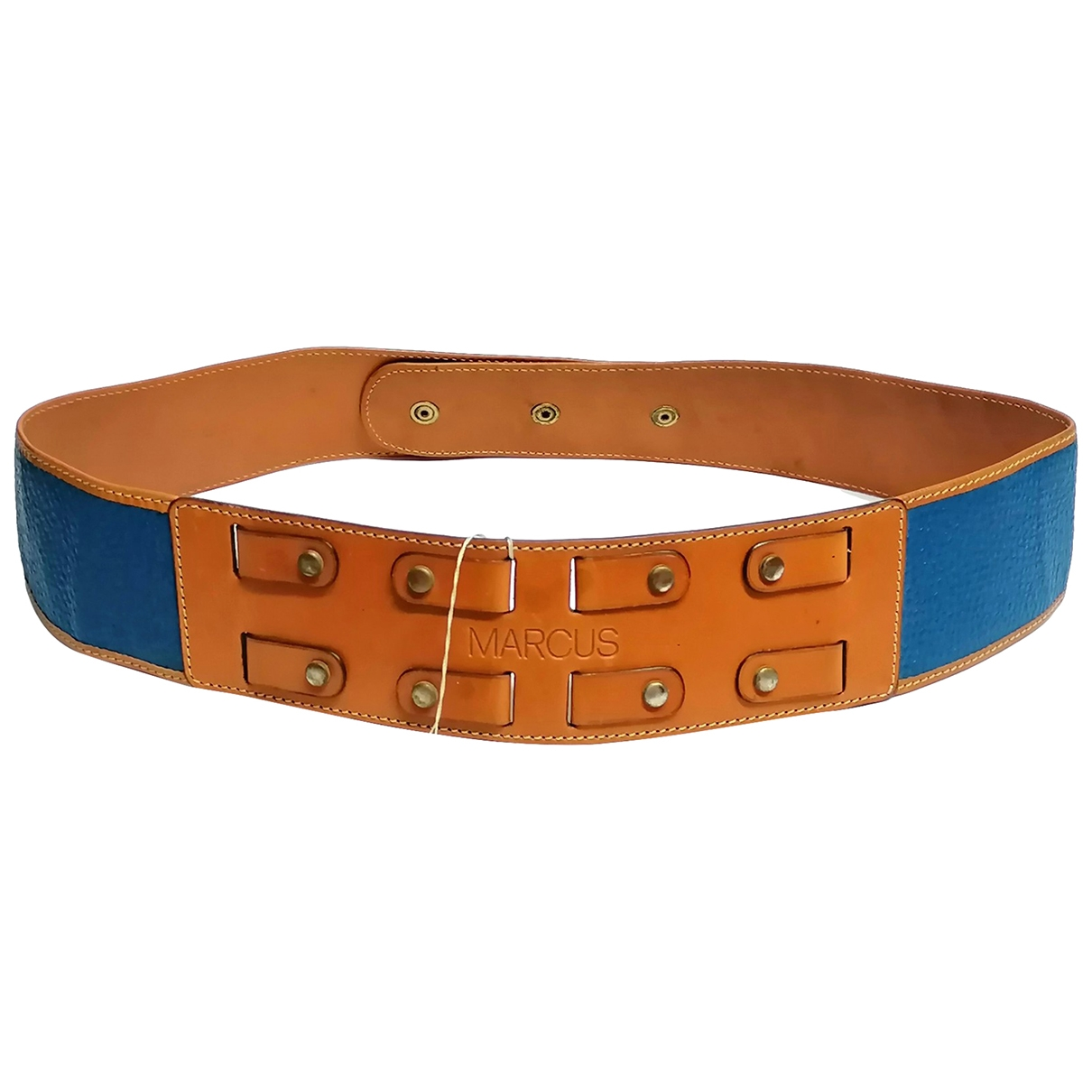 Non Signé / Unsigned \N Blue Leather belt for Women M International
