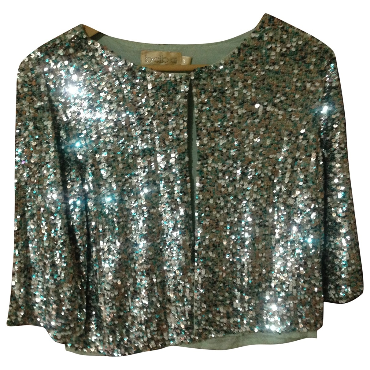 Non Signé / Unsigned \N Blue Glitter jacket for Women 38 FR