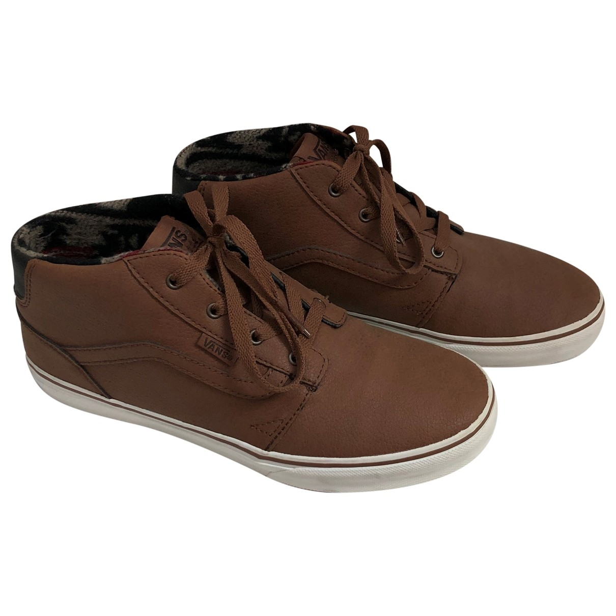 Vans \N Camel Leather Trainers for Kids 37 EU