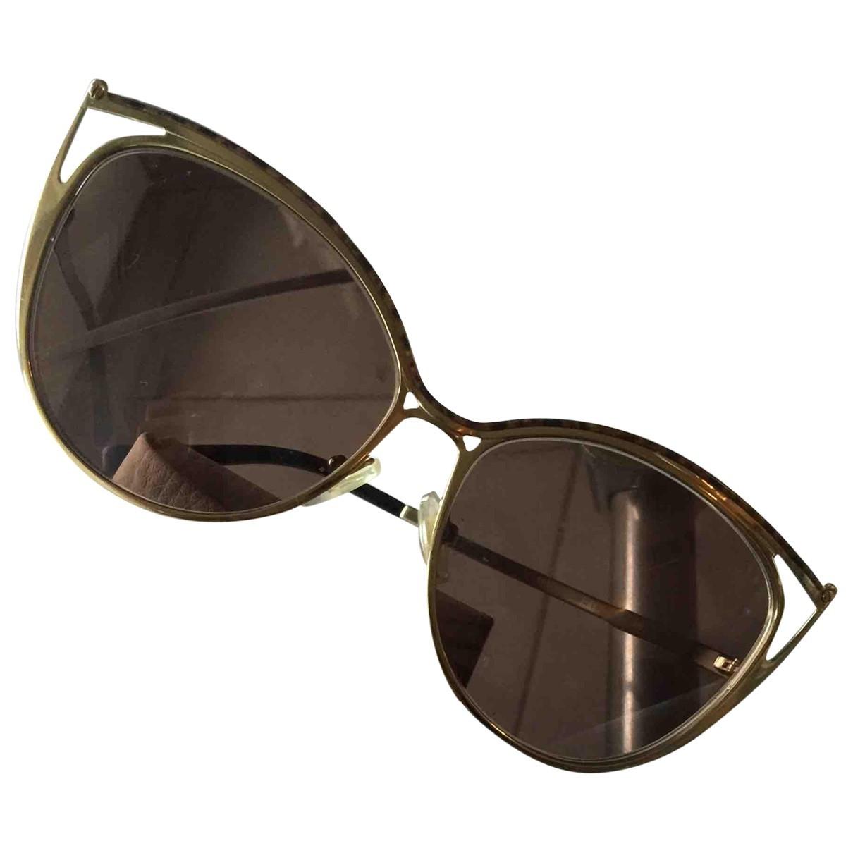 Michael Kors \N Gold Metal Sunglasses for Women \N