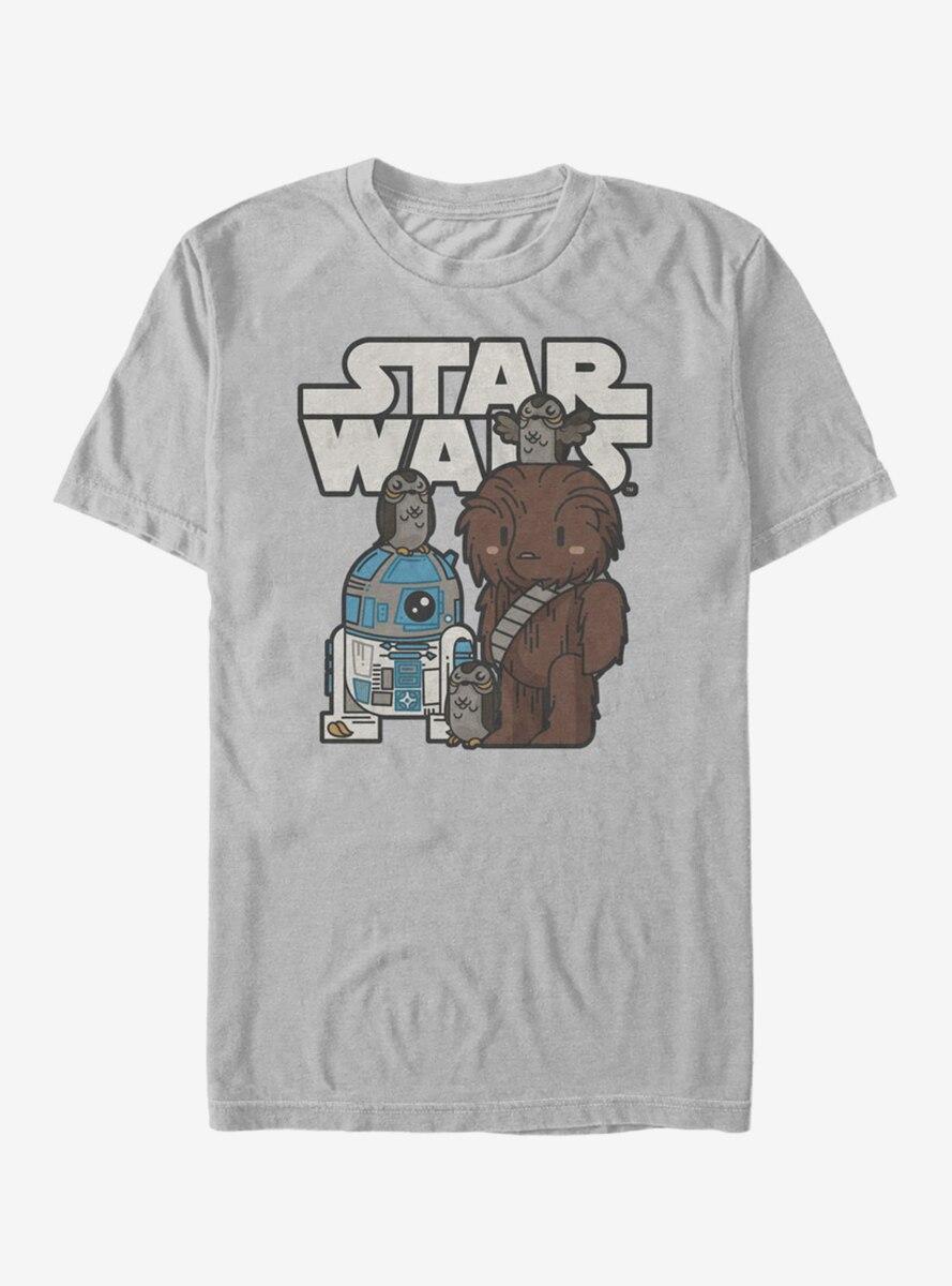Star Wars Episode VIII The Last Jedi Cartoon Porg Party T-Shirt