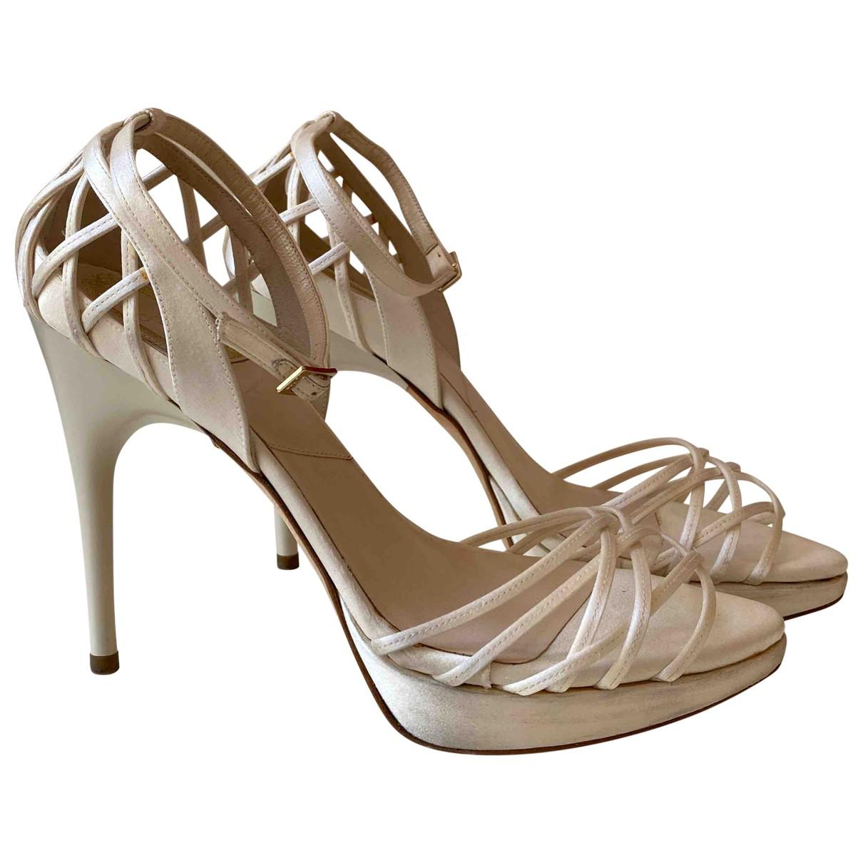 Dior \N Ecru Cloth Heels for Women 37.5 EU