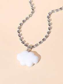 Cloud Charm Rhinestone Decor Anklet