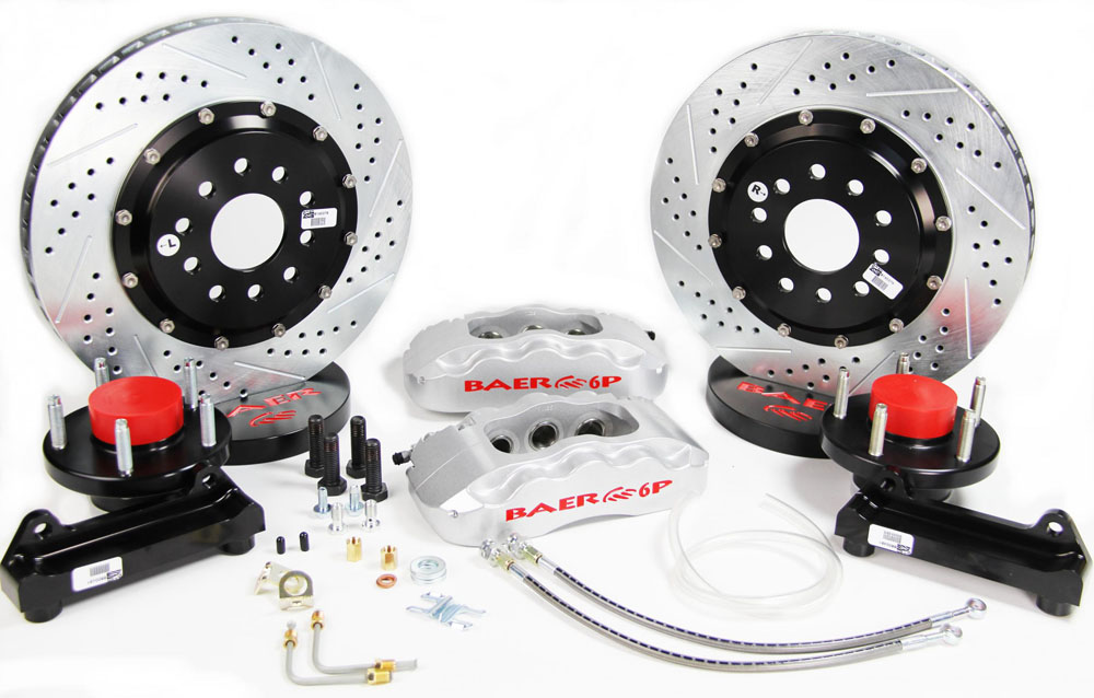 Baer Brakes Brake System 14 Inch Front Pro+ Silver Wilwood Pro