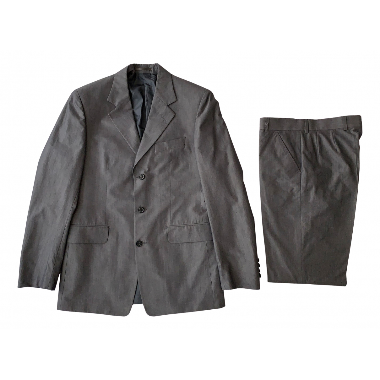 Yves Saint Laurent \N Grey Cotton Suits for Men 48 IT