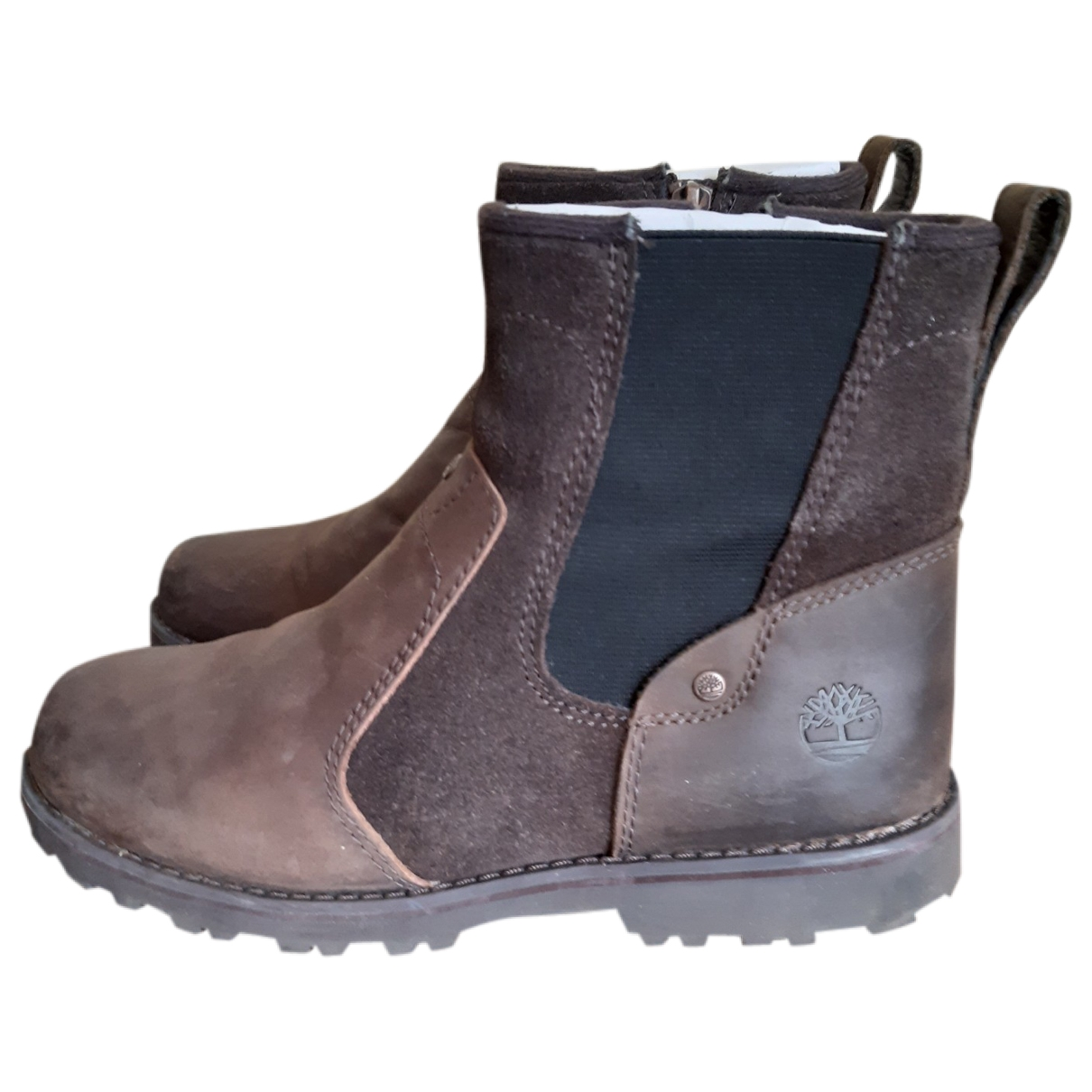 Timberland \N Brown Leather Boots for Kids 35 EU