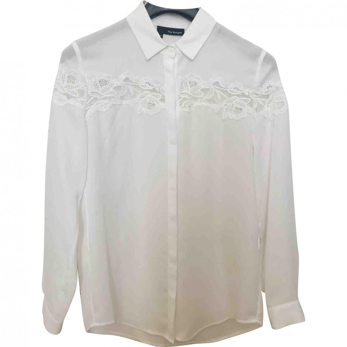 The Kooples \N White Silk  top for Women XXS International