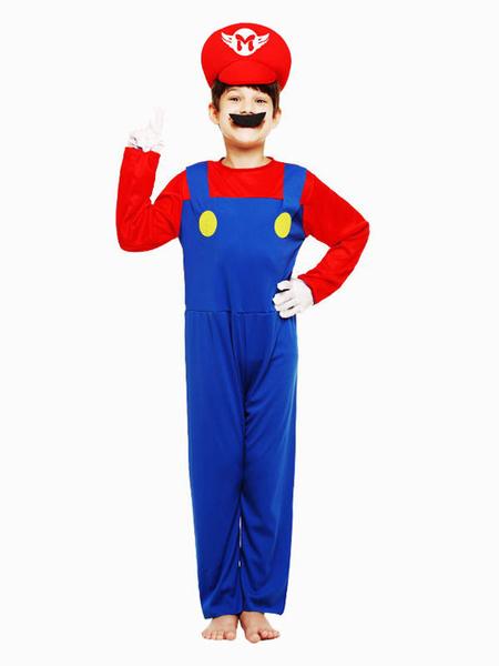 Milanoo Super Mario Bros Cosplay Costume Outfit For Kids
