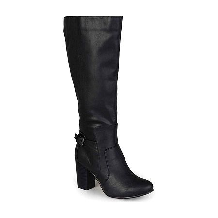 Journee Collection Womens Carver Wide Calf Boots, 8 Medium, Black