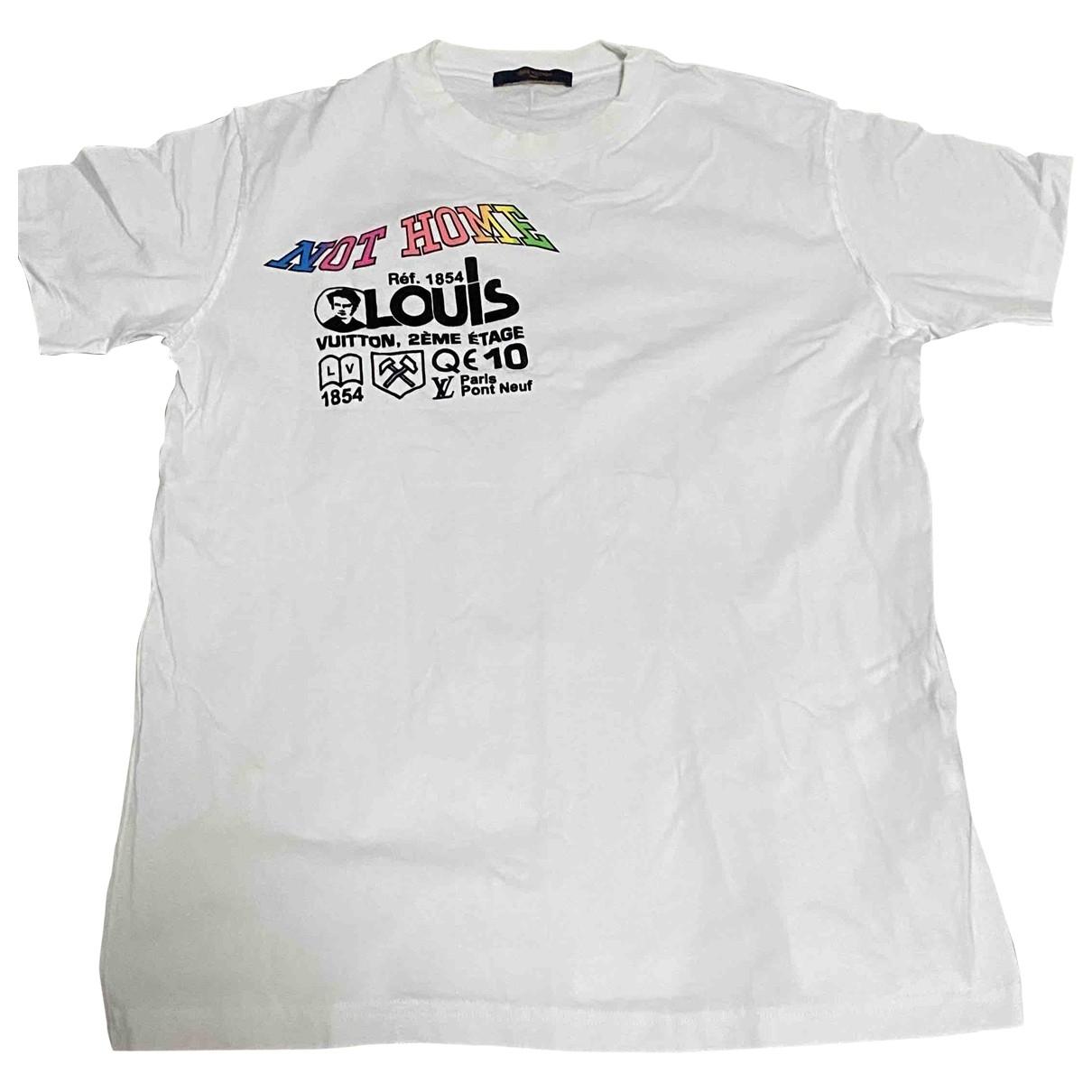 Louis Vuitton \N White Cotton T-shirts for Men L International