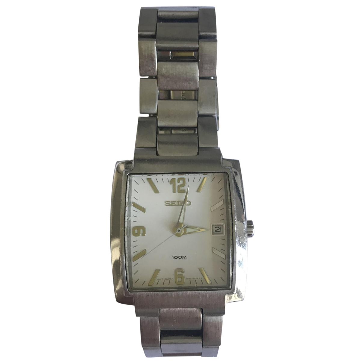 Seiko \N Metallic Steel watch for Men \N