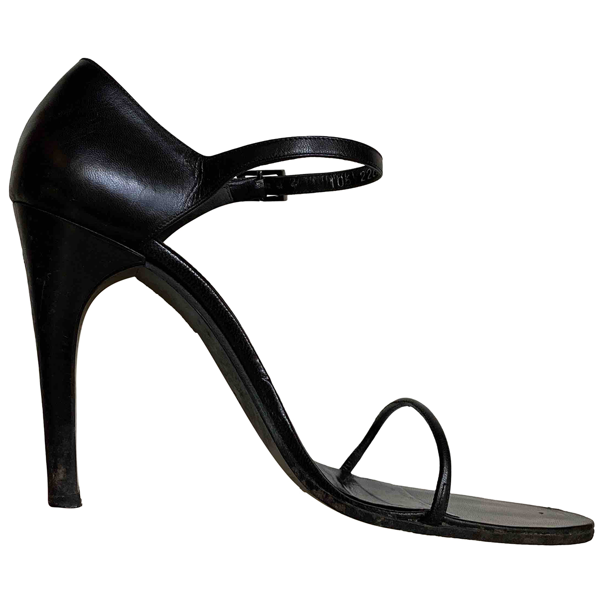 Gucci \N Black Leather Sandals for Women 38 EU