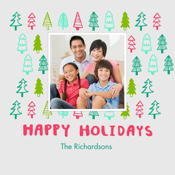 Holidays Fancy Wood Ornament, Gift -Festive Trees