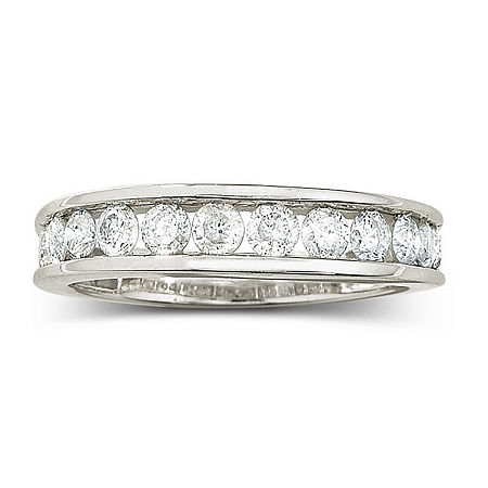 1 CT. T.W. Diamond 10K Wedding Band, 4 , No Color Family