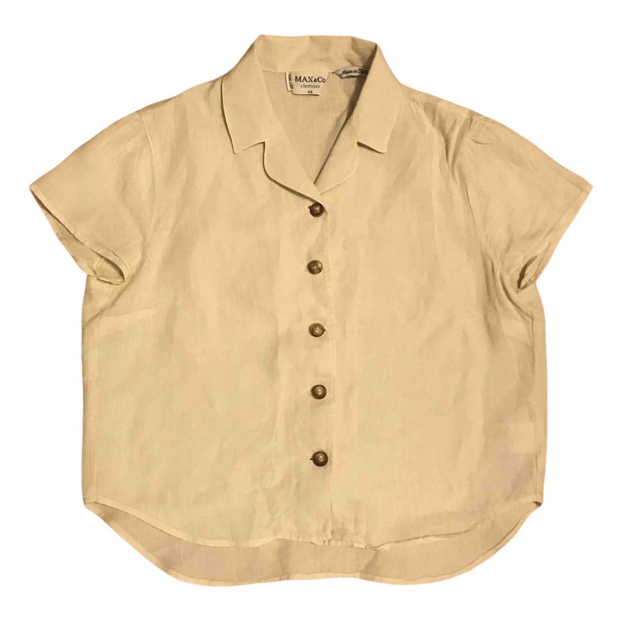 Max & Co \N Ecru Linen  top for Women 44 IT