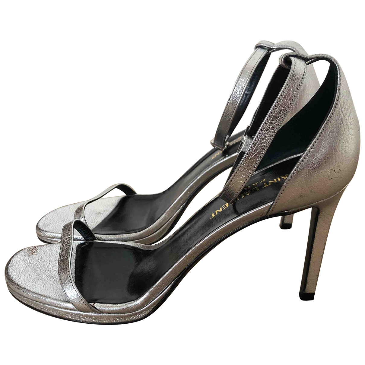 Saint Laurent \N Silver Leather Sandals for Women 37 EU