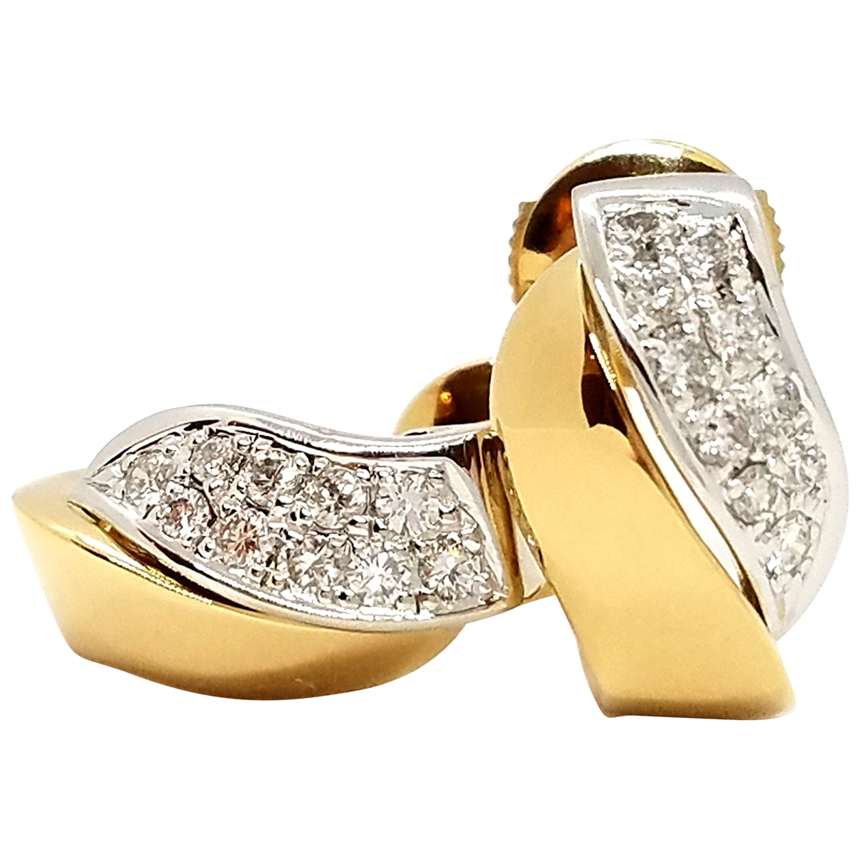Autre Marque \N Gold White gold Earrings for Women \N