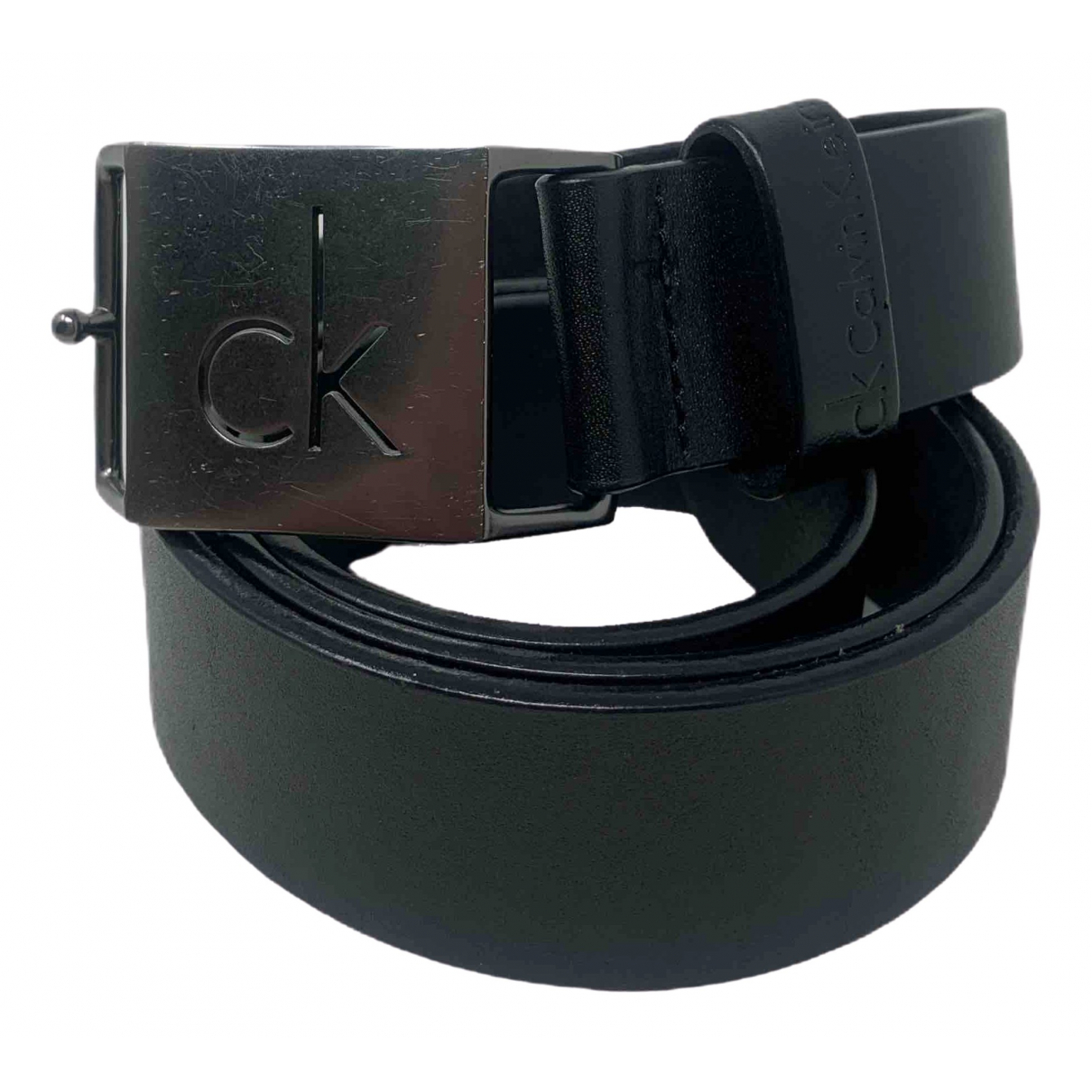 Calvin Klein \N Black Leather belt for Men 90 cm