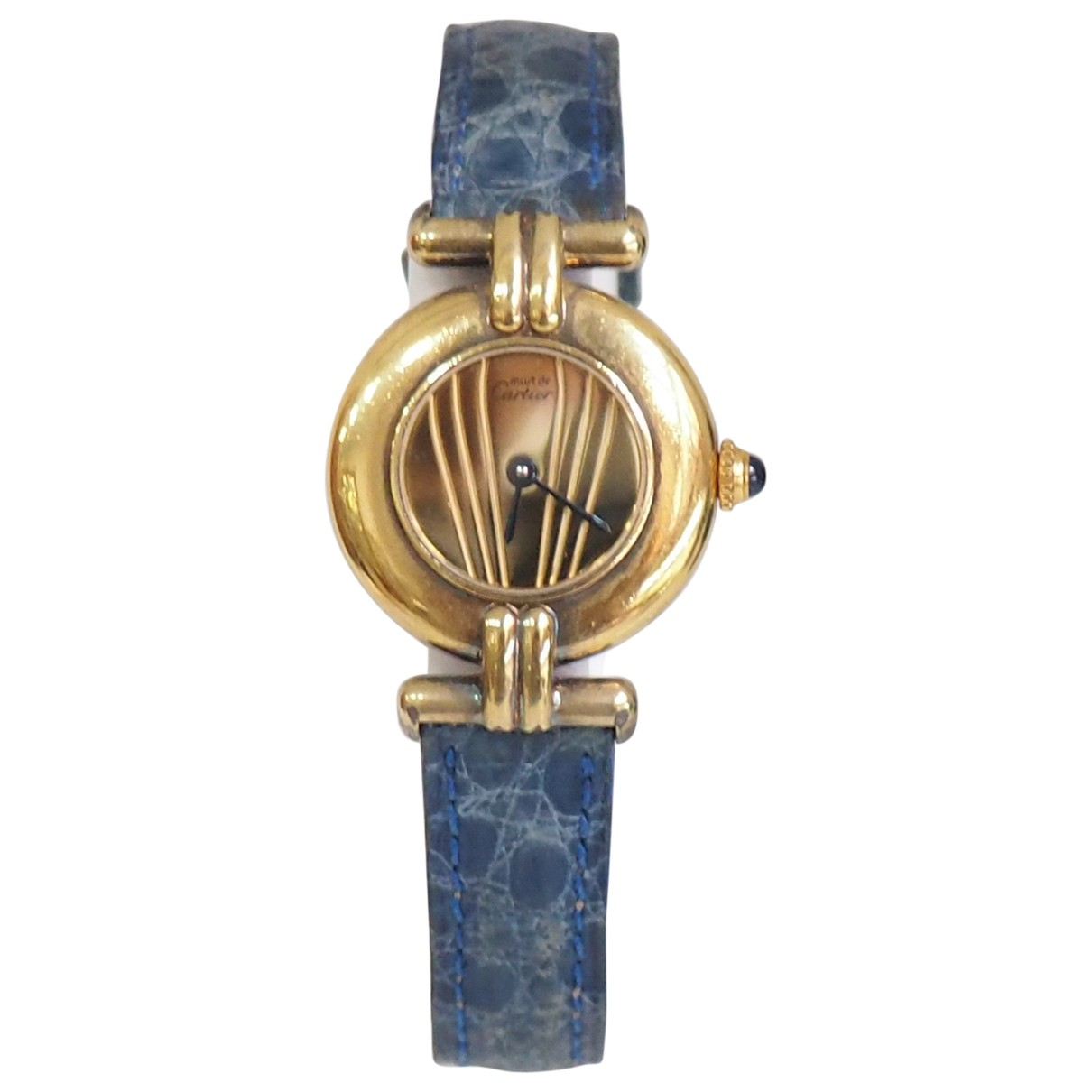 Cartier \N Blue Silver Gilt watch for Women \N