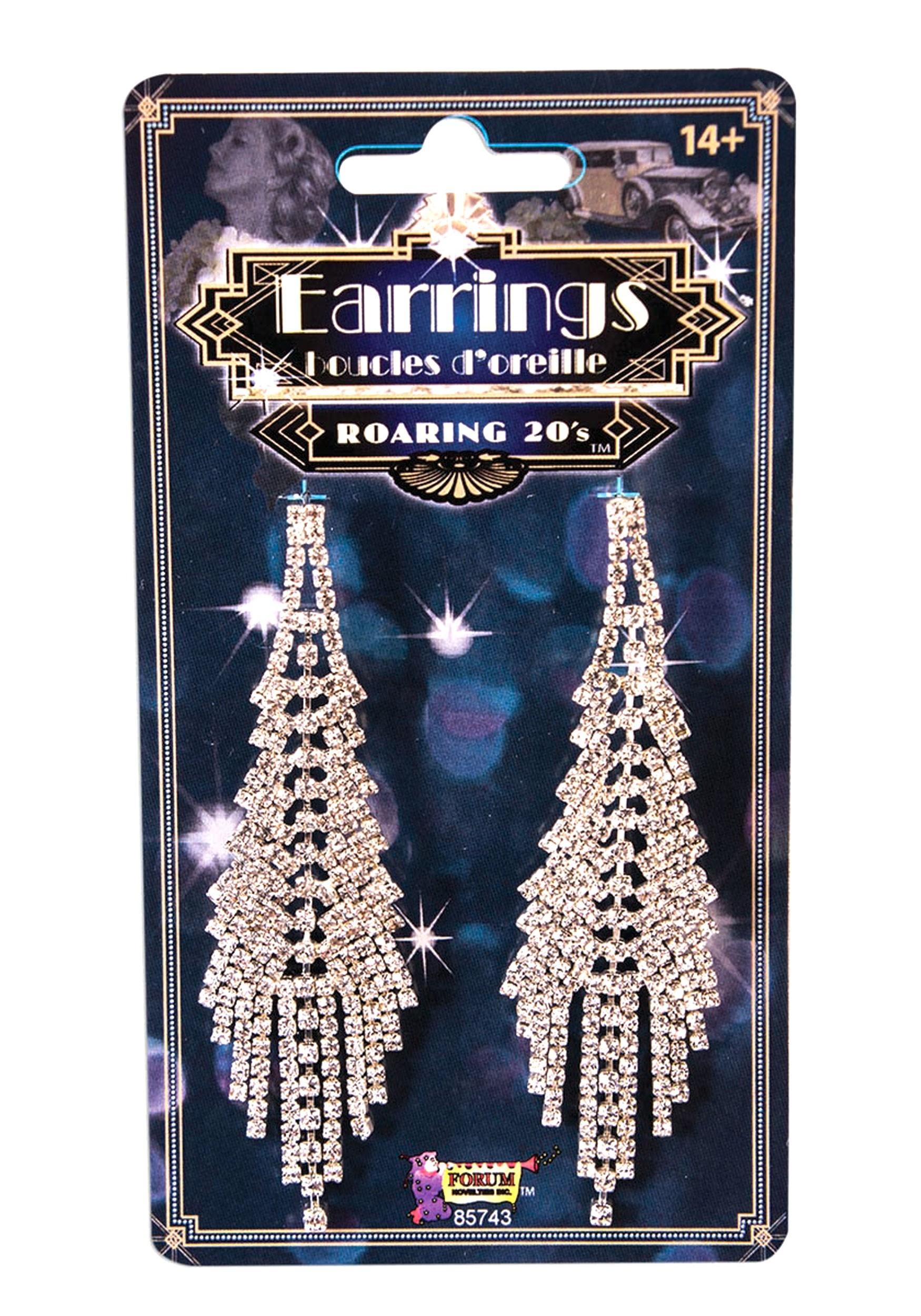 Roaring 20's Fancy Flapper Costume Earrings
