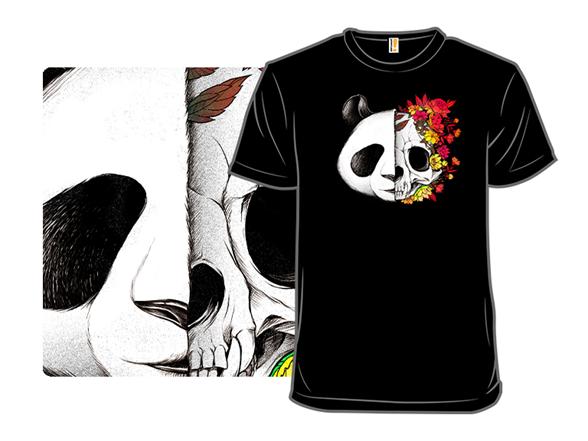 Panda Skull Rock T Shirt