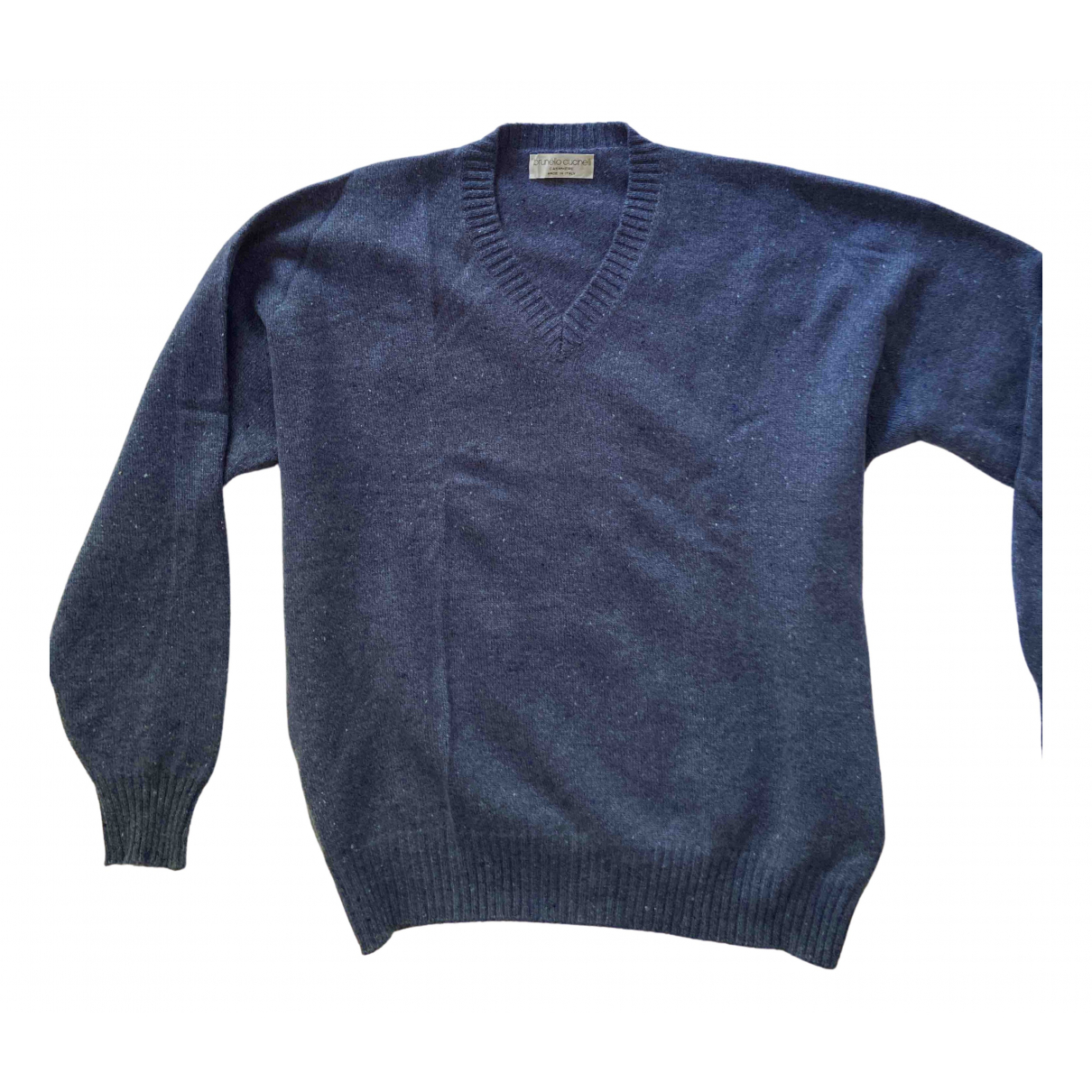 Brunello Cucinelli \N Blue Cashmere Knitwear & Sweatshirts for Men 52 FR