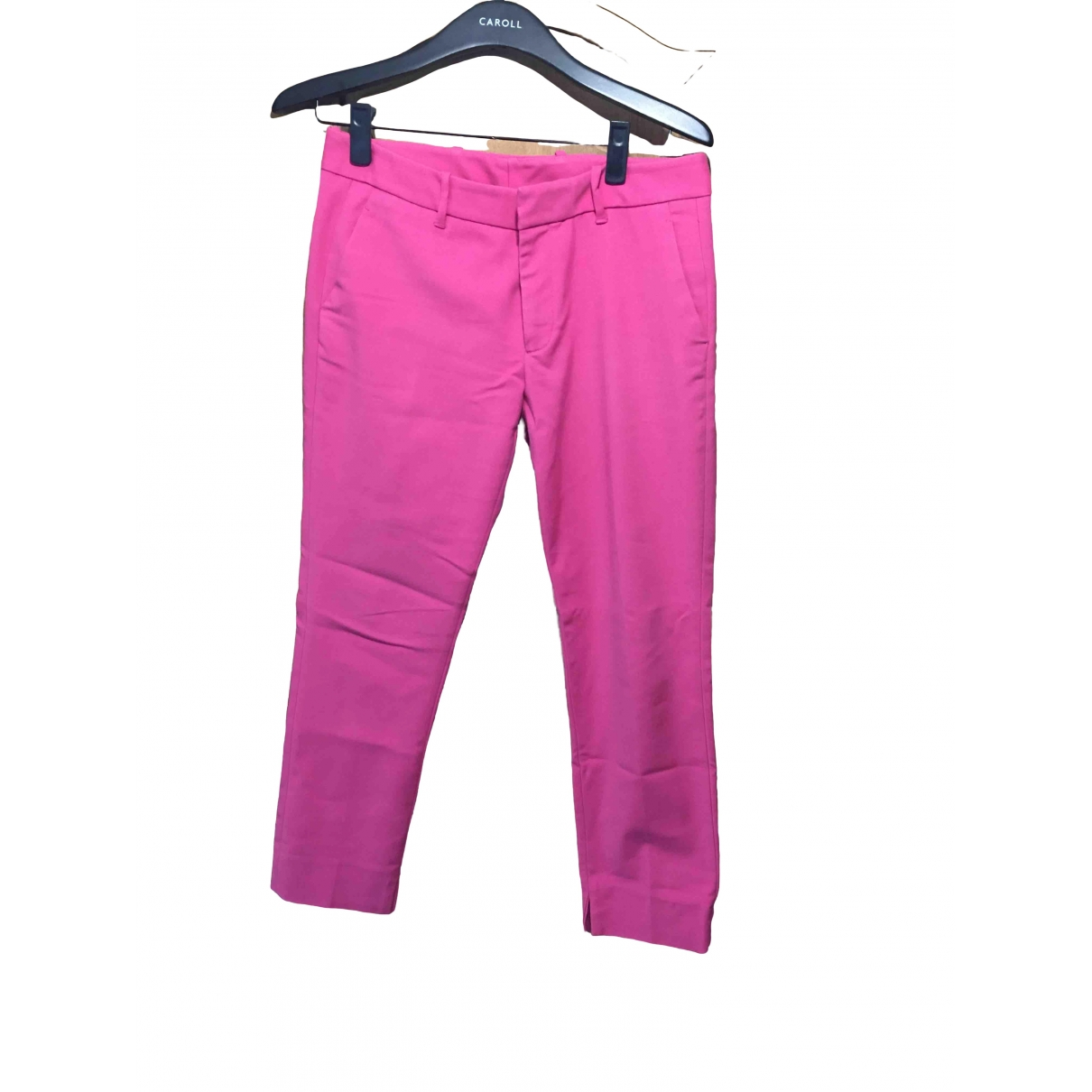 Zara \N Pink Trousers for Women 36 FR