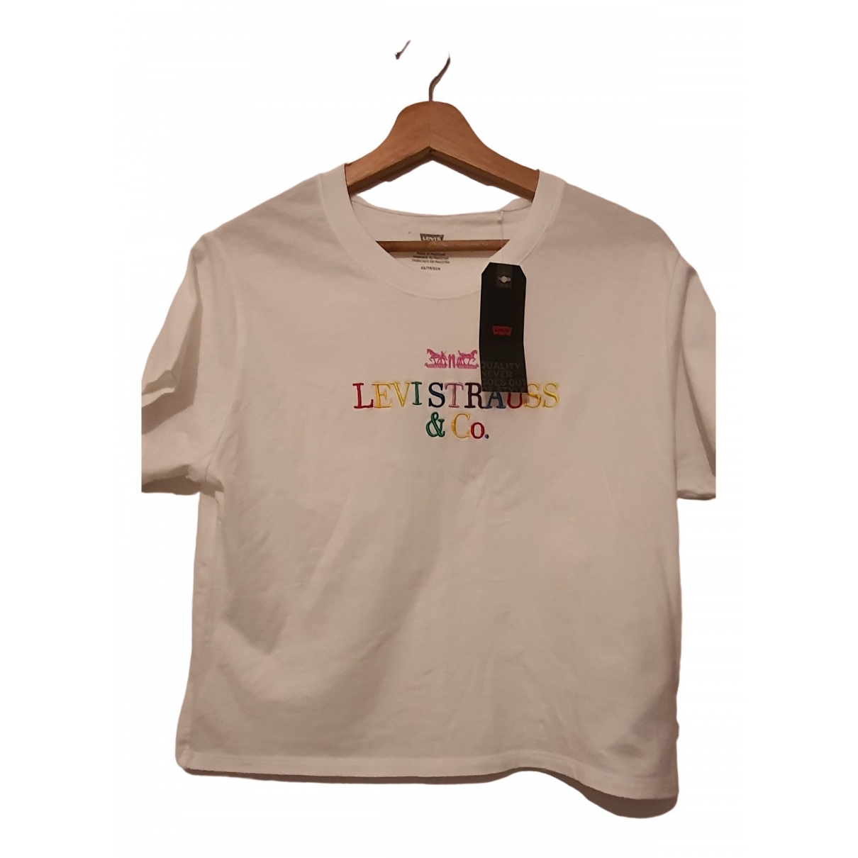 Levi's \N White Cotton  top for Women 34 FR