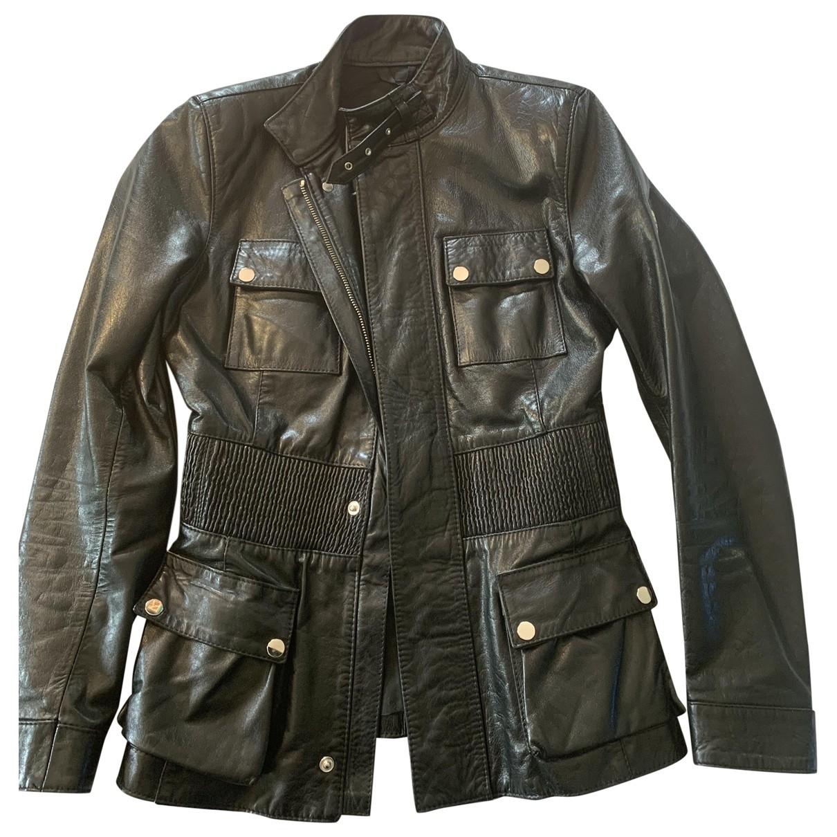 Belstaff \N Black Leather Leather jacket for Women 42 IT