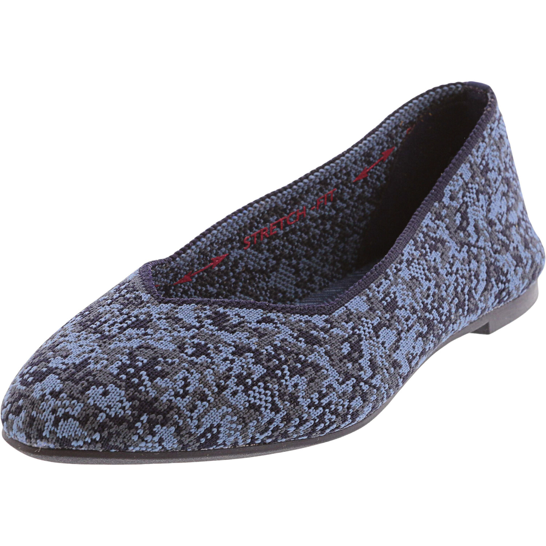 Skechers Women's Cleo - Camo Girl Blue Ankle-High Ballet 5M