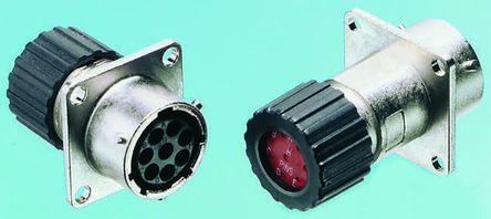 ITT Cannon Connector, 19 contacts Panel Mount Socket, Crimp